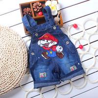 summer clother baby rompers Cartoon Boys shortalls Girls Jumpsuit roupas bebe kids Denim Overalls infantil newborn Baby Clothing