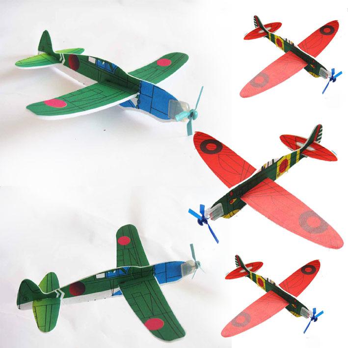 DIY educational toys \ assembling model aircraft aircraft \ hand thrown glider small aircraft 20pcs/lot  free shipping(China (Mainland))