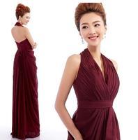 Fashionable New Sexy Halter-neck Long evening dress vestidos de festa vestido longo prom dresses 2014 evening dresses E109
