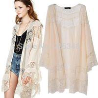 Gypsy Women Vintage Hippie Boho Kimono Cardigan Lace Crochet Jacket Tops Blouse