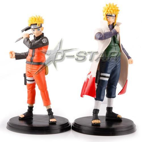 Free Shipping 5.7Inch Naruto Uzumaki Set PVC Action Figures Set Collection Model Toy (2pcs per set)(China (Mainland))