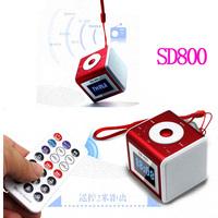 SD800 Portable Speaker Mini Stereo Radio FM Remote Control MP3 Player Sound Box, TF/U-disk, Alarm Clock Function Hi-Rice Brand