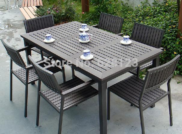 ODTC048 Leisure Villa Garden Furniture Plastic Wood Tables