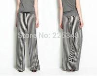 Womens Girls Casual Pants Chiffon Wide Leg Long Plus size Loose Trousers