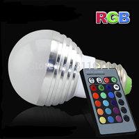 RGB LED Lamp 3W 220V 230V 120V 110V E27 16 Color Bulb Changeable Light with Remote Control Led Lighting