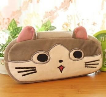 Super Kawaii Chi's Cat Size 20CM Cotton School Kids Pen Pencil BAG Case Plush ; Lady Coin Cosmetics Purse & Wallet Pouch BAG(China (Mainland))