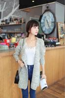 2014 Autumn Winter Women Long Sleeve Sweater Fashion Ladies Knitting Knitwear Sweater Cardigans Outerwear Free Size