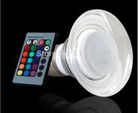COB LED Lamp E27 3W 85-265V 220V RGB LED Light Crystal Spotlight Bulb Lamp with Remote Controller For Home Bar