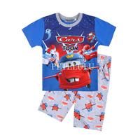 car baby summer clothing set short Sleeve Children's Pajamas Boys Sleepwear Kids Pyjamas Home Clothes cartoon pajamas sets