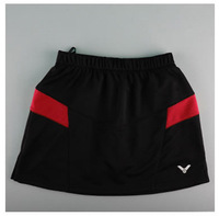 2014 Women's Sports Skirt tennis Victor Tennis Skirts Brand Logo Woman Badminton Skort Plus Size XXXL Free Shipping
