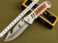 Browning Survival Folding Knife Tactical Outdoor Camping Knife 5Cr13 56HRC Blade Wholesale Retail Free shipping