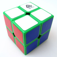 New  WitTwo v1 2x2x2 Magic Cube Green  Type C 2x2 Speed cube