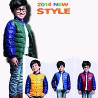 Child down coat boy child short design color block decoration down coat outerwear child down coat jacket