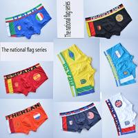 Better quality brand flag series sexy underwear men boxer shorts, crime
