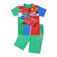 summer baby 100% cotton sleepwear boys cartoon cars short sleeve pajamas children's clothing kids Underwear sets Free shipping
