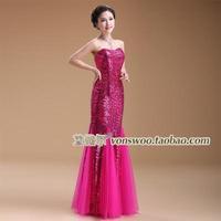 Professional custom the new Slim Long Bra fishtail dress