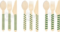 20 Assorted Designs of Wooden Cutlery Spoon in OPP Packaging (200 packs/2000 pcs)