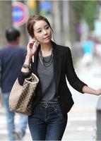 M-XXXL plus size 2014 Autumn Summer popular long sleeve single button blaser feminino,black slim all-match casual blazer women