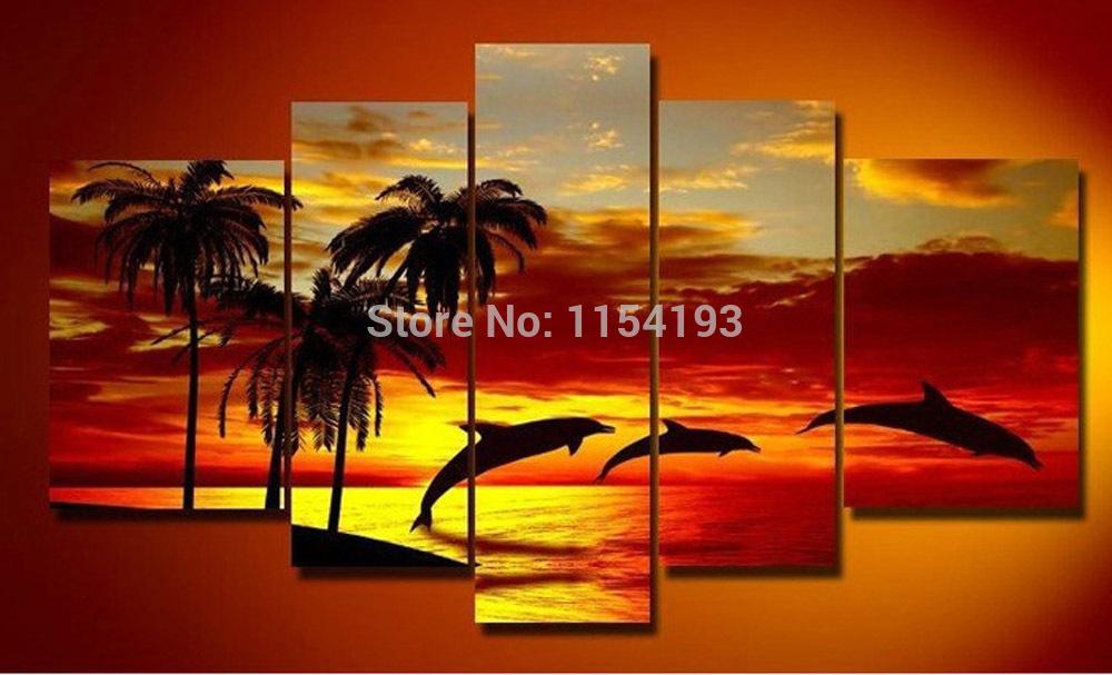 Sunrise on The Beach With Palm Trees Beach Palm Trees Sunrise