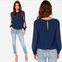 Fashion Big Size Camisa Chiffon Blouses Women Blusas Femininas 2014 Women Com Renda Camisete Feminina Blusa Shirt De Tops WM019