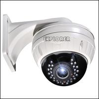 Security CCTV 800TVL Sony Effio-A Vandalproof 30pcs IR LED Dome Camera with 2.8-12mm varifocal lens with big bracket