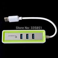 3 Port USB 3.0 Hub 5Gbps Super High Speed w/ RJ45 1000Mbps Gigabit Ethernet Lan Wired Network Adapter