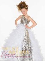Pageant Wedding Bridesmaid Communion Flower Girl Lace Satin White Dress