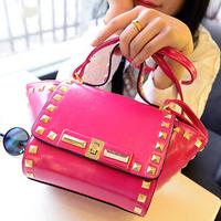 New2014desigual women messenger mini bags leather rivet bat Shoulder bag Lady messenger bag PL312#30