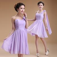 The new shoulder bridesmaid dress short paragraph , diverse styles