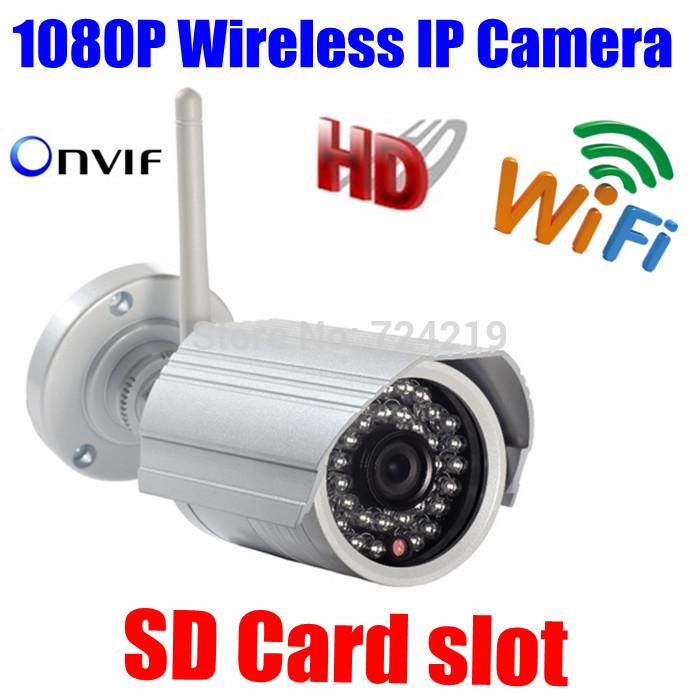 CYBO P2P ONVIF Wifi 2MP Megapixel Wireless IR Network IP camera 1080P HD Outdoor Video surveillance security camera SD Card slot(China (Mainland))