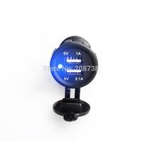 Dual USB Car Motorcycle Cigarette Lighter Power Socket Plug Outlet 12V 5V