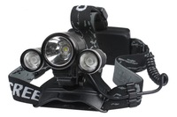high quality O388 CREE 3 3000LM 10W Head XML T6 LED Bicycle Bike Light Headlamp 2 in 1  Torch Light Drop Shipping