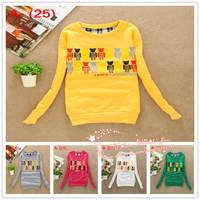 2014 Brand new korean women carton hoody,ladeis elegant autum/winter letter print hoodies,women's tops clothes female jackets