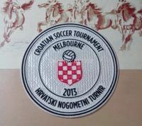 free shipping 2013 croatian soccer tournament melbourne patch  Football patch Soccer Patch soccer badge