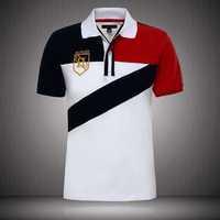 HOT 2014 new arrive  high quality cotton  Lycra short sleeve t-shirt wholesale S M L XL