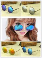 Fashion 2014 round  modelling sunglasses  more colour sunglasses women's sun glasses