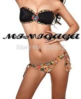 Free Shipping NEW Diamond Lady flower Sexy Beachwear Tankini Bikini PAD Swimwear Monokini SML