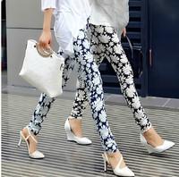 2014 autumn flower trousers print casual long pants female trousers pencil pants