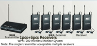 2014 UHF Wireless In Ear Stage Monitor System TAKSTAR In Ear Stage Wireless Monitor System 6 Receivers + 1 Transmitter WPM-200