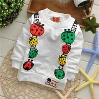 unisex Coccinella septempunctata ladybug baby children sweatshirts hoodies drop shippig KT230R