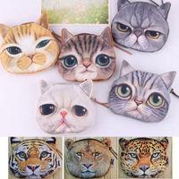 Cat Leopard Cartoon Purse Mini Coin Money Bag Wallet Pouch Pocket Makeup Handbag BAG025