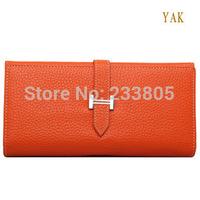 Women clutch gentle woman wallet fashion ladies wallet Cowhide pattern women's long design wallets brand purses