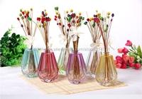 Best Nature Reed Diffuser Set Diamond Shaped Glass Bottle Gypsophila Flower Rattan Sticks Air Fragrance Freshener for Home Hotel