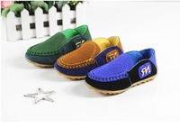 Free Shipping Kids Children Sneakers New 2014 Child Genuine Leather Sneakers Boys Shoe Girls Doudou