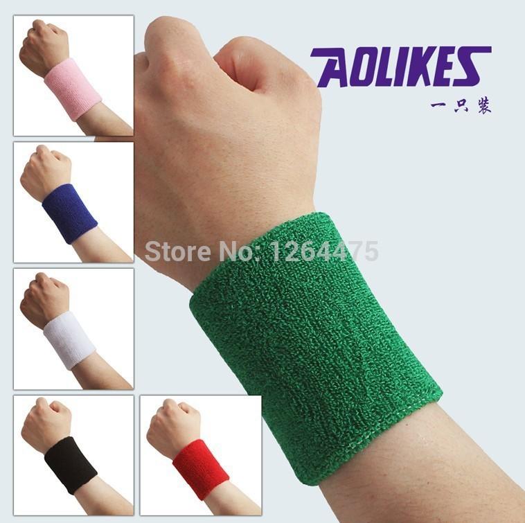 New design 100% cotton Towel basketball wrist support wrist band sports cuff Tennis wristguard absorbing belt new fashion #1291(China (Mainland))