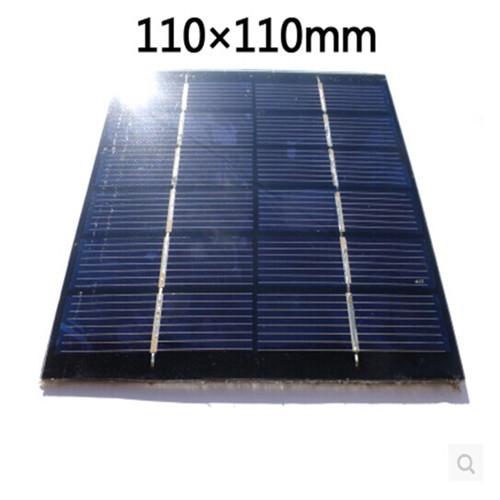 5pcs 6V 180MA 110X110mm Micro Mini Power Small Solar Cells For DIY Solar Panels(China (Mainland))