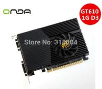 Recommend! Brand ONDA nvidia GeForce GT610 video card nvidia graphics card 1G DDR3 DVI+HDMI+VGA drop/free shipping