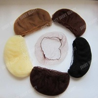 "Finest Nylon hair nets with ""Elastic edge""  invisible Black,Dark brown,Brown,Light Brown,Blonde color 20inch length"
