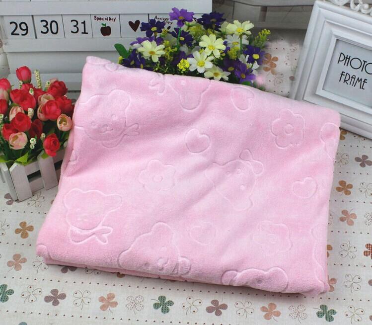 Microfiber Embossing Baby bath towel Blankets Baby blankets(China (Mainland))