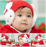 1 Pcs 5 colors Cartoon rabbit Cotton cap infant kids hats children hat MZ001